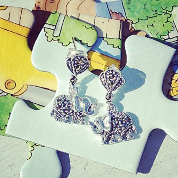 Chakraas Baby Elephant Earrings
