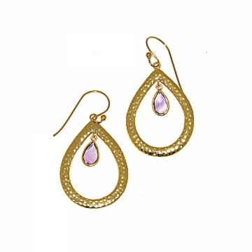 Shop Chakraas Gold & Amethyst Earrings
