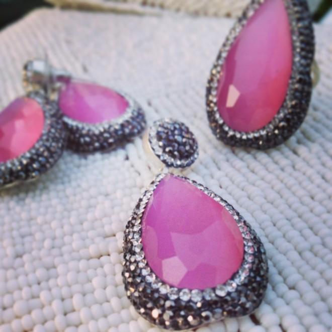 Chakraas Jewels Rose Quartz Set